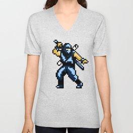 8bit Ninja Unisex V-Neck