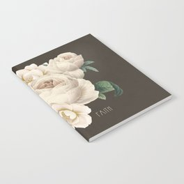 White vintage flowers- faith Notebook