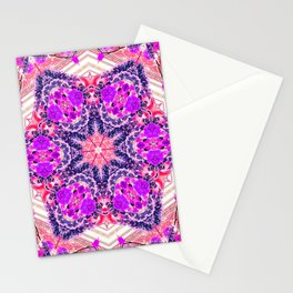bouquet-lined bridges mandala Stationery Cards