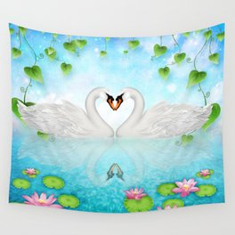 Heart of Swans #9 Wall Tapestry