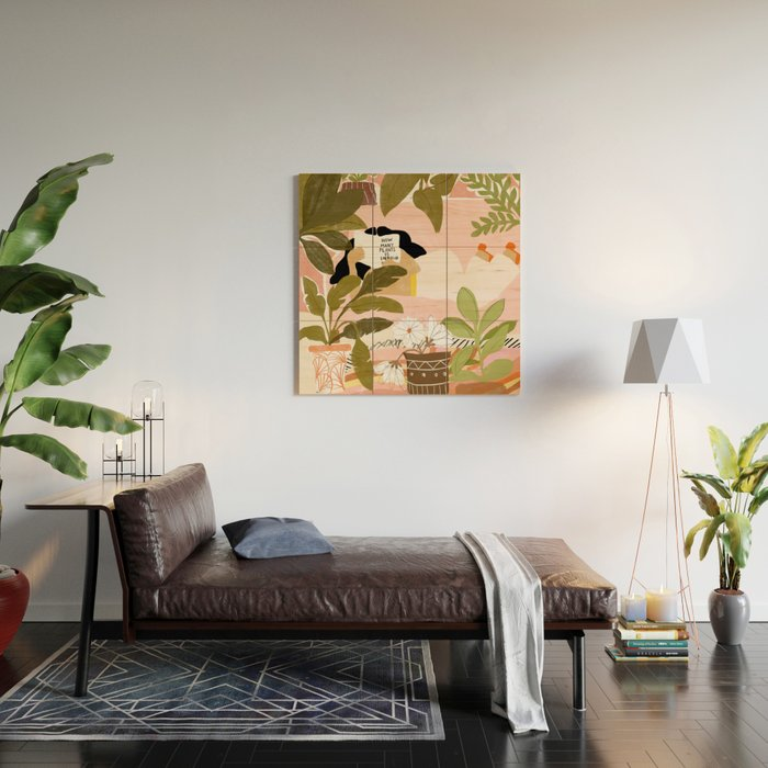 How Many Plants Is Enough Plants? Wood Wall Art