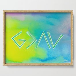 God Is Greater - GREEN Serving Tray