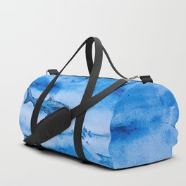 Great white in blue Duffle Bag