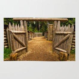 Fort Clatsop - Lewis And Clark Rug