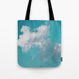 Floating cotton candy with blue green Tote Bag