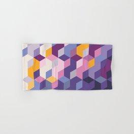 Violet Pattern Hand & Bath Towel