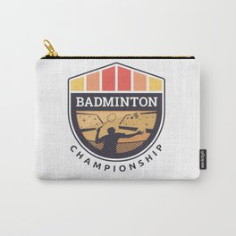Badminton Badge Carry-All Pouch