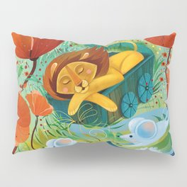 sleeping lion Pillow Sham