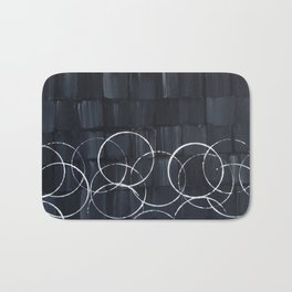 """No. 34 - Print of Original Acrylic Painting on canvas - 16"""" x 20"""" - (Black and white) Bath Mat"""