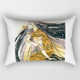 Golden Dress Rectangular Pillow