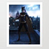 batgirl Art Prints featuring Batgirl by patriciogandara