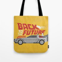 jenna kutcher Tote Bags featuring The future is coming by Beardy Graphics