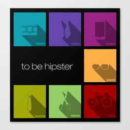 creative hipster accessories Canvas Print