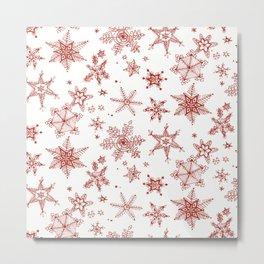 Snow Flakes 02 Metal Print