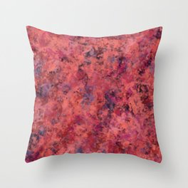 Coral Clouds Throw Pillow
