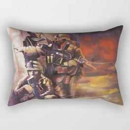 Red gold Rectangular Pillow