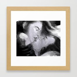 it's just us now Framed Art Print