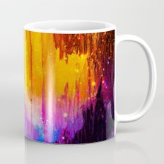 CASTLES IN THE MIST Magical Abstract Acrylic Painting Mixed Media Fantasy Cosmic Colorful Galaxy  Mug