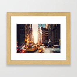 NYC Rush Hour Framed Art Print