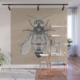 Bee pencil drawing Wall Mural