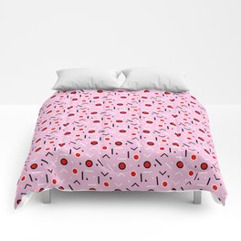 Memphis Tribes - Red and Pink Comforters