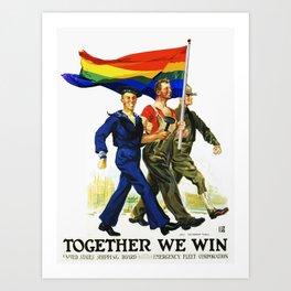 Together We Win! Art Print
