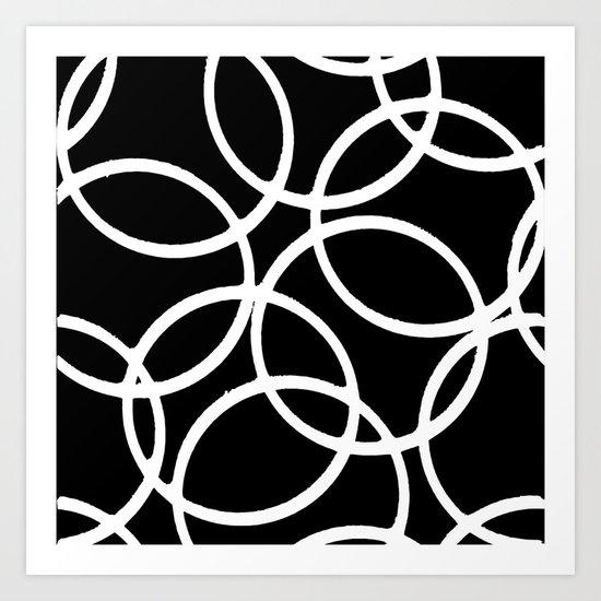 Interlocking White Circles Artistic Design by taiche