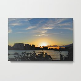 Waiting for the Ferry in Amsterdam Metal Print