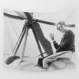 Amelia Earhart Wall Tapestry