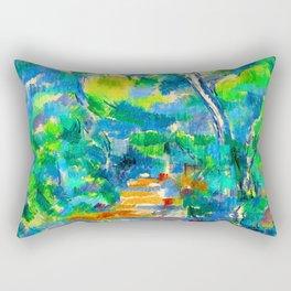 Paul Cezanne Forest Scene Rectangular Pillow