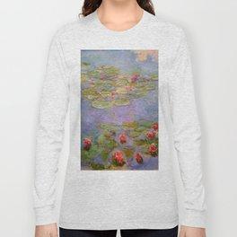 "Claude Monet ""Red Water Lilies"", 1919 Long Sleeve T-shirt"