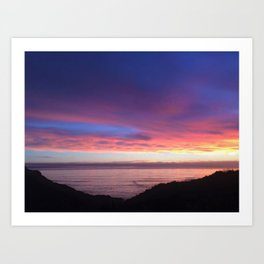 Purple and Pink Summer Beach Sunset Art Print