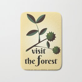 Visit The Forest Government poster Bath Mat