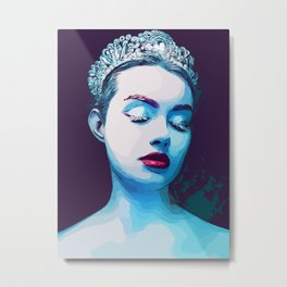 Ice queen #fantasy #blue #princess Metal Print