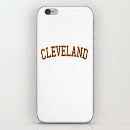 Cleveland Sports College Font iPhone Skin