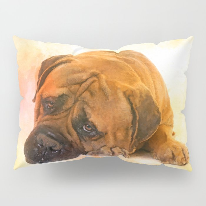 Bullmastiff dog Pillow Sham