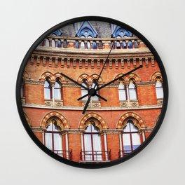 Red brick Wall Clock