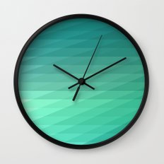 Fig. 043 Mint Green Geometric Diagonal Stripes Wall Clock