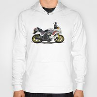 honda Hoodies featuring 1982 Honda CX500TC Turbo by Saddle Bums