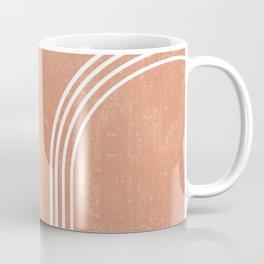 Mid Century Modern 2 - Geometrical Abstract - Minimal Print - Terracotta Abstract - Burnt Sienna Coffee Mug