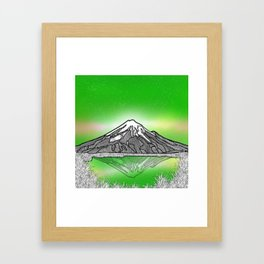 Mount Taranaki New Zealand Framed Art Print