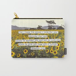 Jeremiah Sunflowers Carry-All Pouch