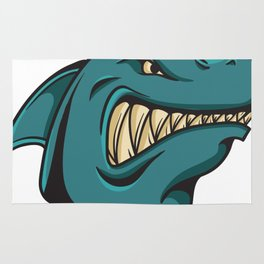 Shark Face Funny Funny Gift Rug