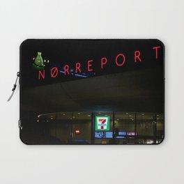 Norreport at night 1 Copenhagen Laptop Sleeve