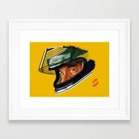 senna Framed Art Prints featuring Senna by Silverback Design
