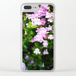 Glowing Violet Trumpets Clear iPhone Case