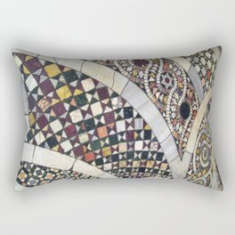 Mosaic Tile Vatican Floor (Hidden Jewish Star) Rectangular Pillow