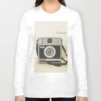 focus Long Sleeve T-shirts featuring Focus by Debbra Obertanec Photography & Art