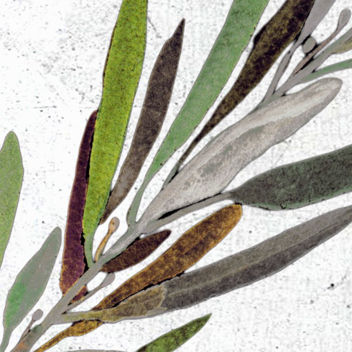 Eucalyptus Leaves White Leggings