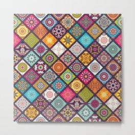 Pattern of colored tiles Metal Print